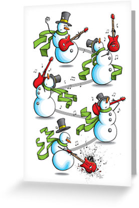 """That's 'Snow Way to Rock and Roll"""" Greeting Cards by Paul."""