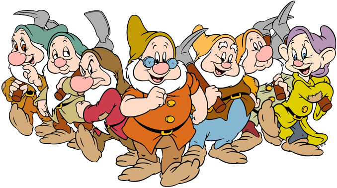 The Seven Dwarfs Clip Art.