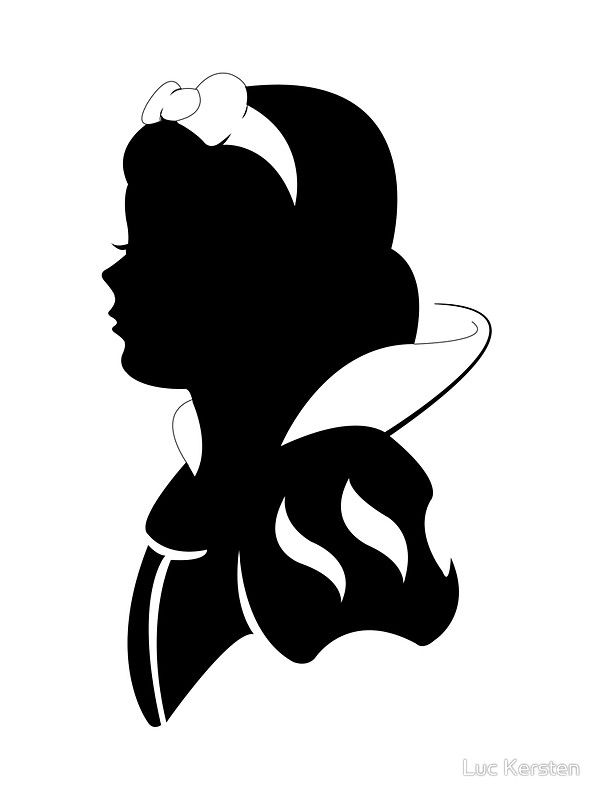 Snow White silhouette\