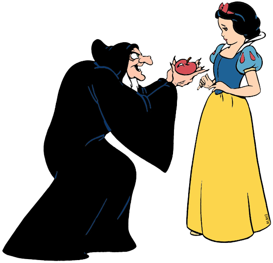 Evil Queen, Witch and Huntsman Clip Art.