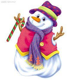 Curvy snow woman clipart.