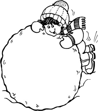 Child Building Snowball.