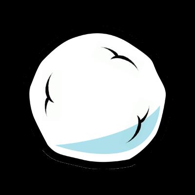 Snowball clipart.
