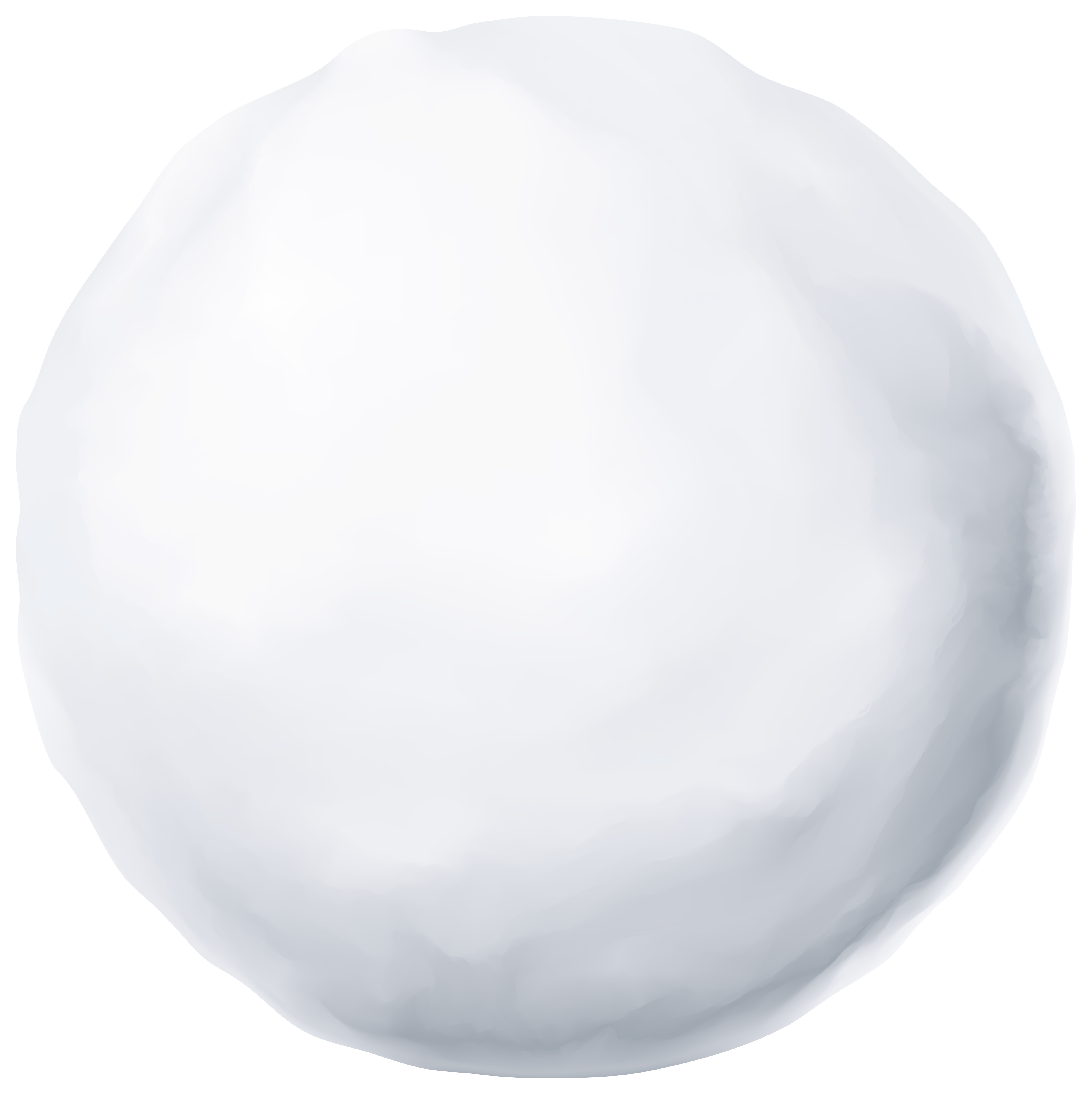 Snowball PNG Clipart Image.