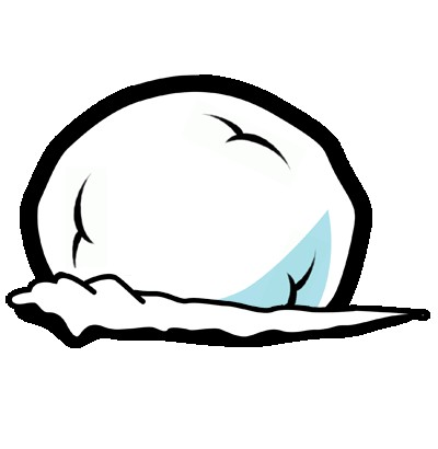 Collection of Snowball clipart.