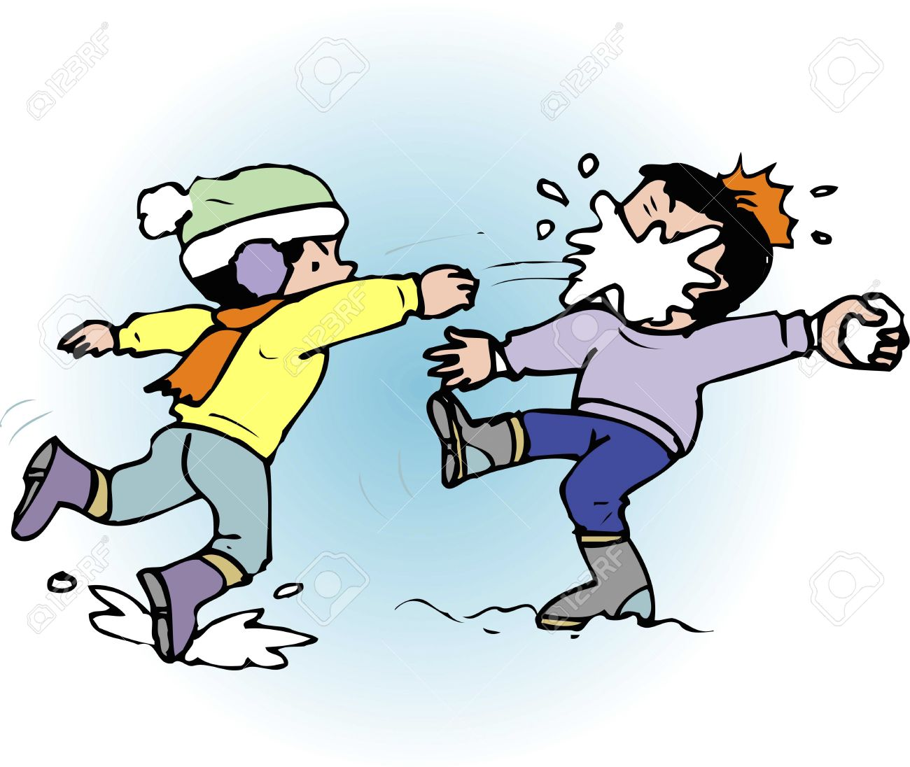 41+ Snowball Fight Clipart.