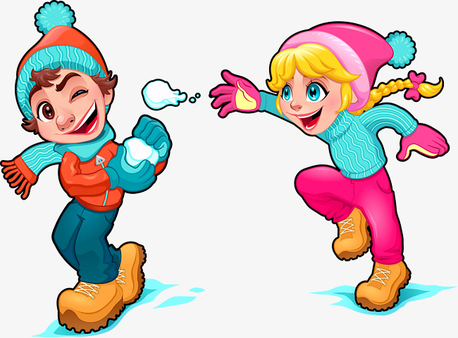 Snowball Fight Clipart Free.