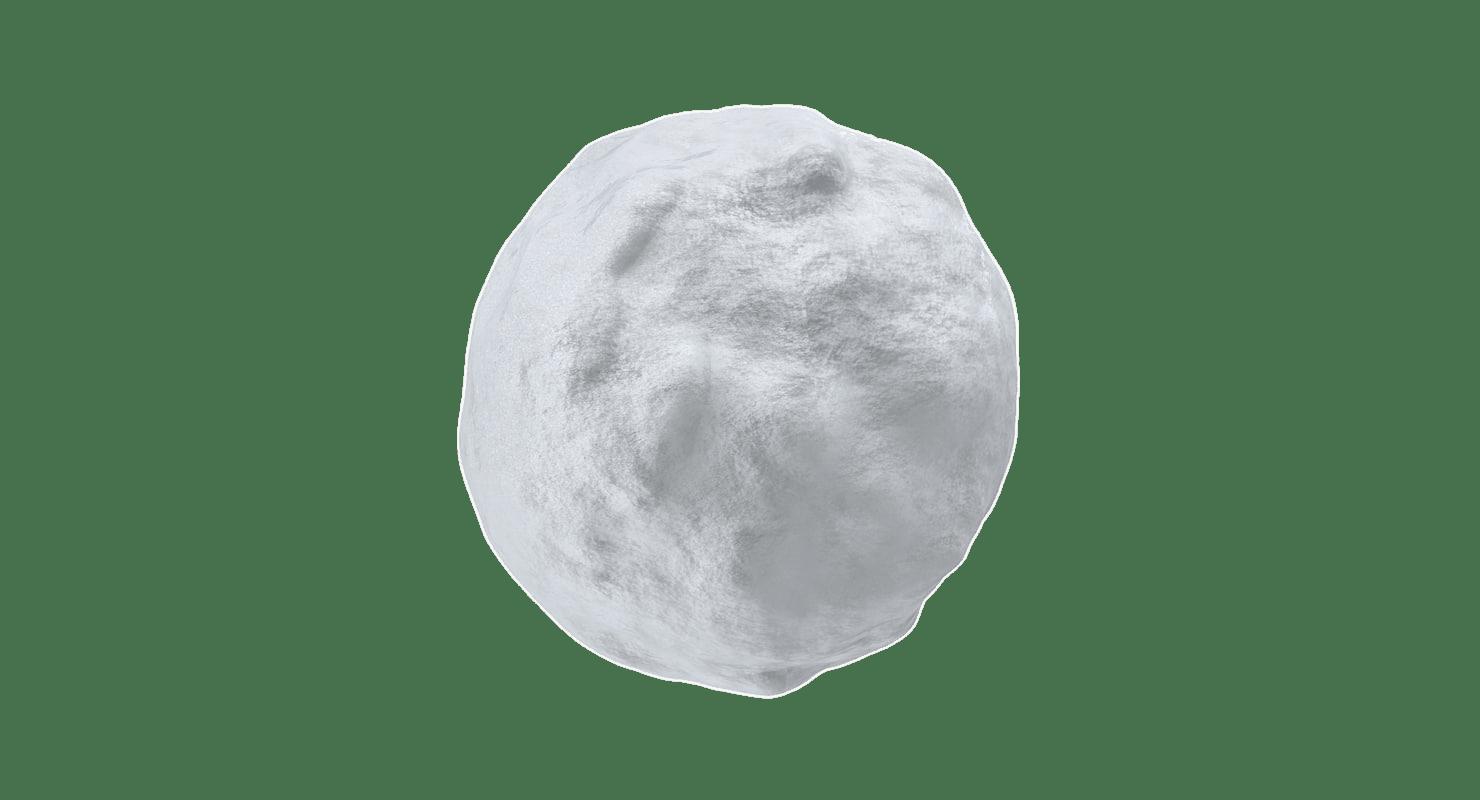 Snowball transparent PNG.