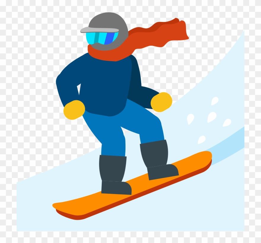 Ski Emoji Png Clipart Skiing Snowboarding Clip Art.