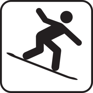 Snowboarding Clipart.