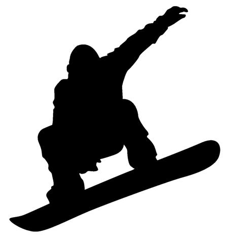 Download snowboarder silhouette clipart Skiing and.
