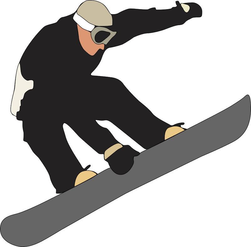 Snowboard cliparts.