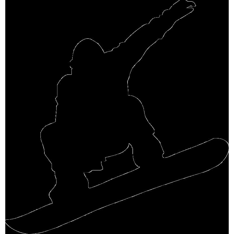 Snowboarding Skiing Silhouette Clip art.