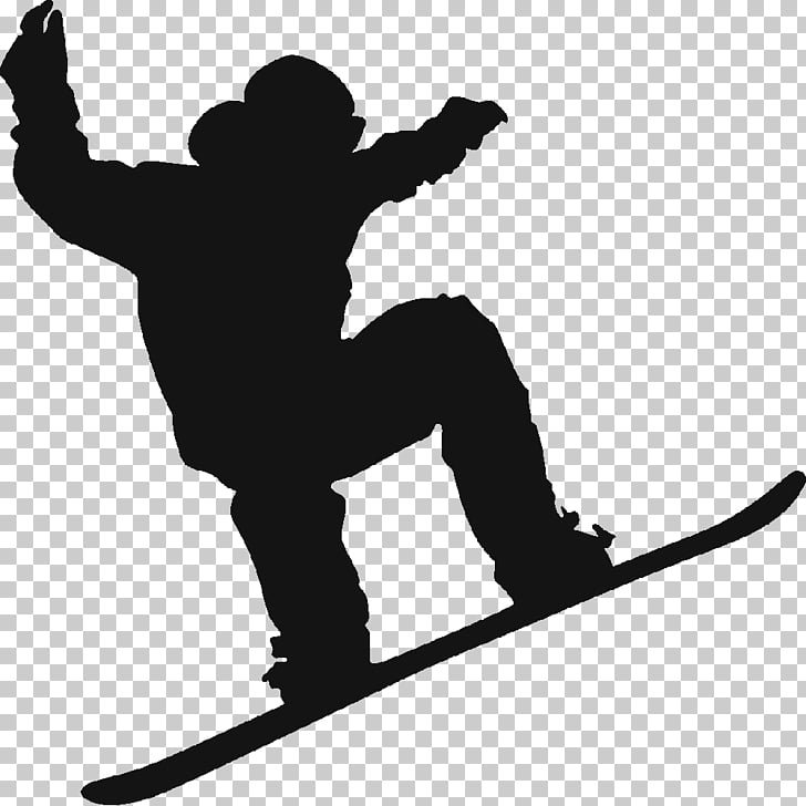 Snowboarding Silhouette Skiing, snowboard, person riding.