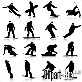 CLIPART SNOWBOARDERS SET.