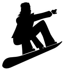 Snowboarding clip art.