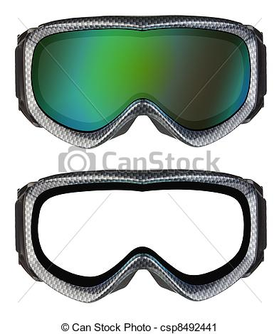 Stock Photography of Ski goggles isolated on the white background.
