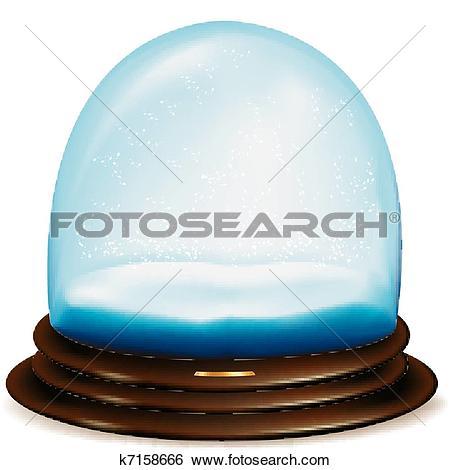 Clip Art of Empty snow dome k7158666.