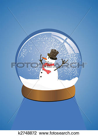 Clipart of beautiful snow dome k2748872.