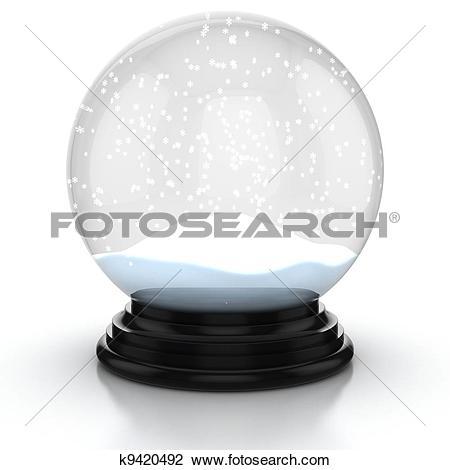 Clip Art of empty snow dome k9420492.