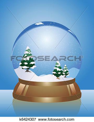 Clip Art of snow dome k6424307.