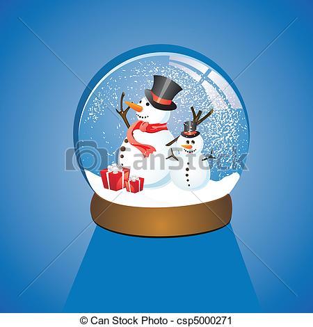 Vector Clip Art of snow dome.