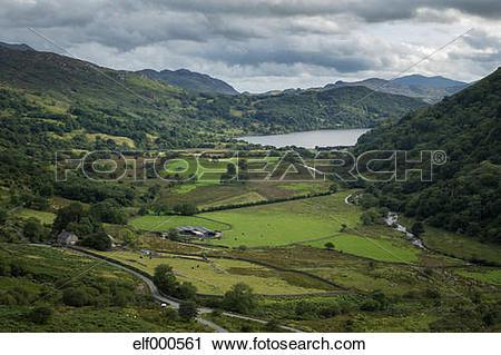 Stock Photography of Great Britain, Wales, Nant Gwynant, Llyn.
