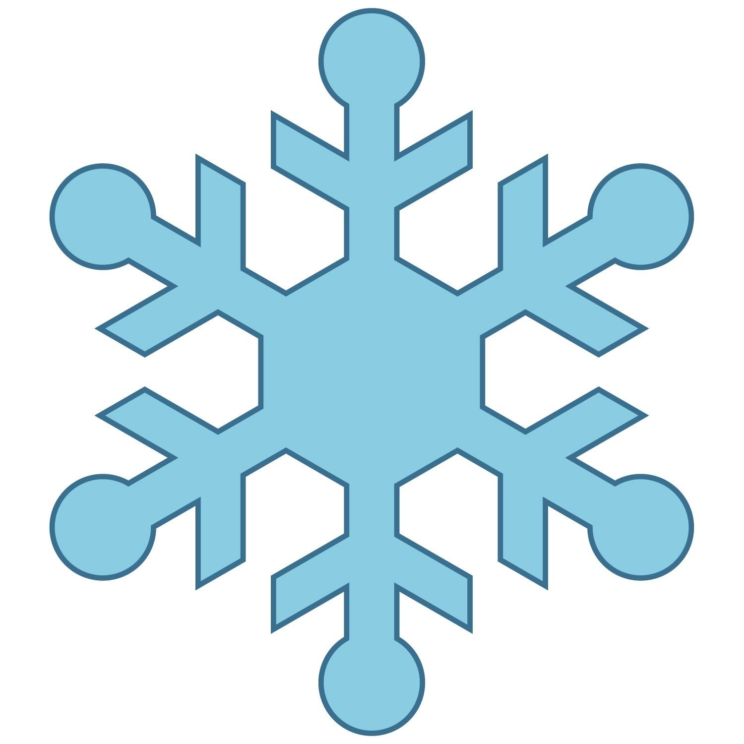 Simple Snowflakes Clipart Simple snowflakes clipart.