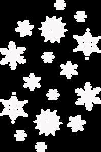 White Snowfall Clip Art at Clker.com.