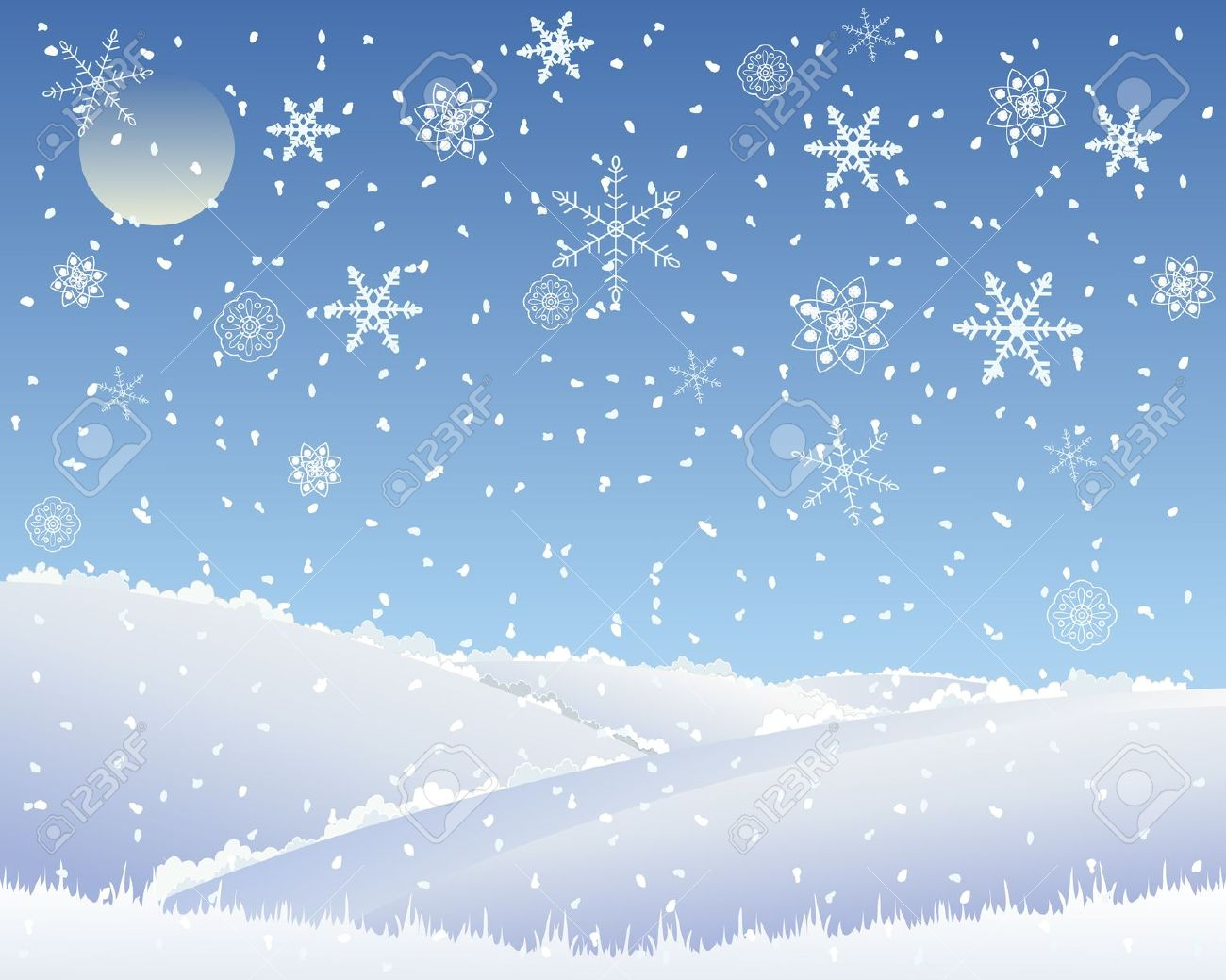 Snowfall Clip Art.