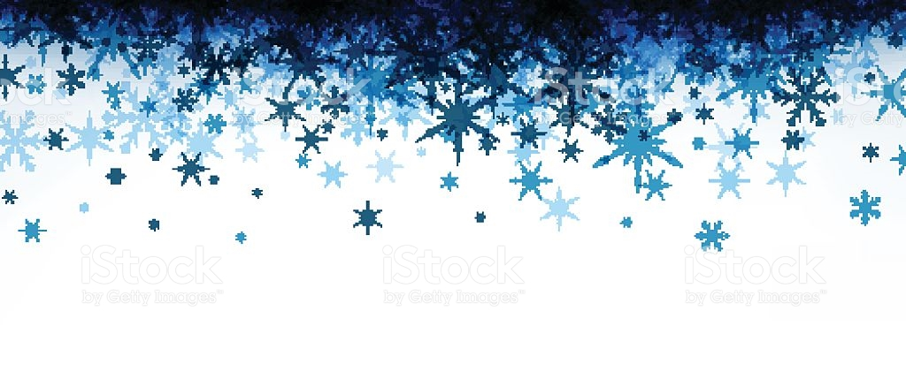 Snowflake Clipart Banner.