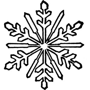 Snowflake Black And White Clipart For.