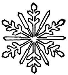 Snowflake Clipart Black And White.