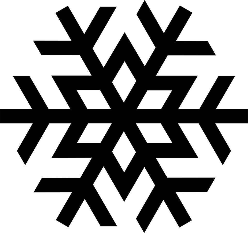 Snowflake Black And White Clipart Activity 3303.