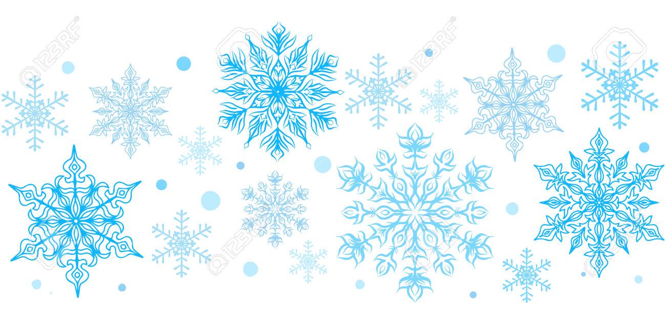 97+ Snowflake Border Clipart.