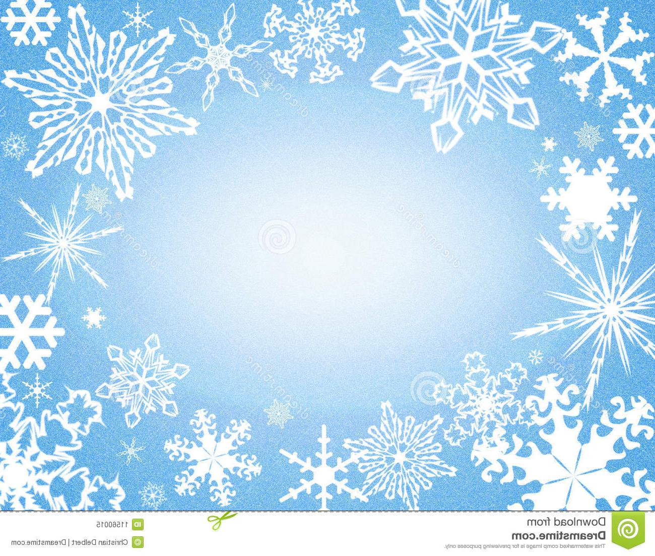 Best HD Blue Snowflake Border Clip Art File Free » Free.