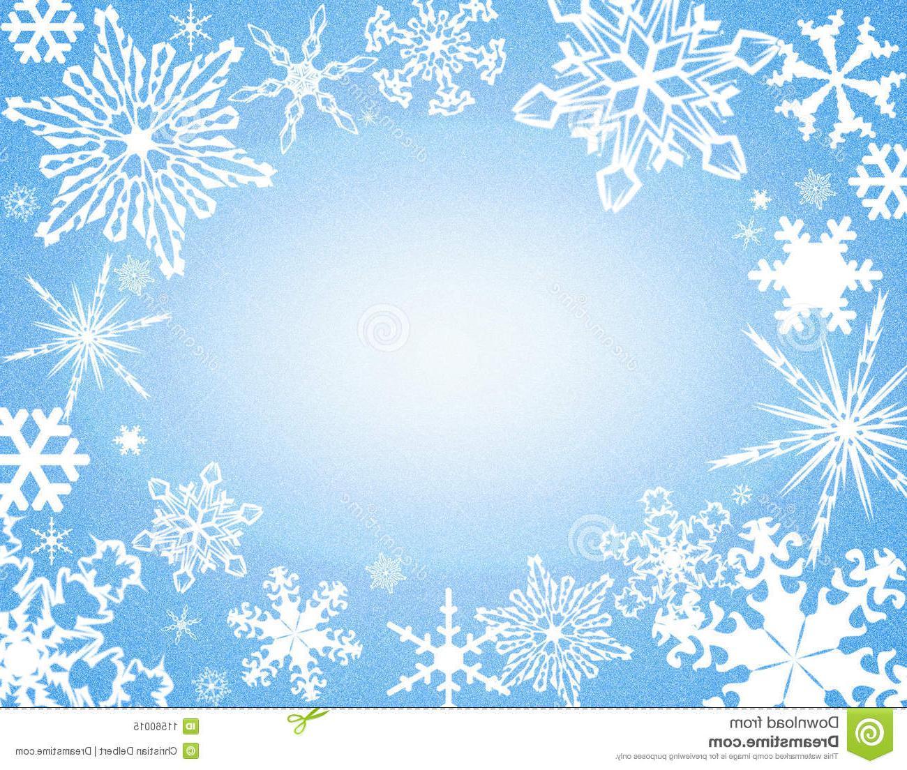 Best HD Blue Snowflake Border Clip Art File Free » Free.