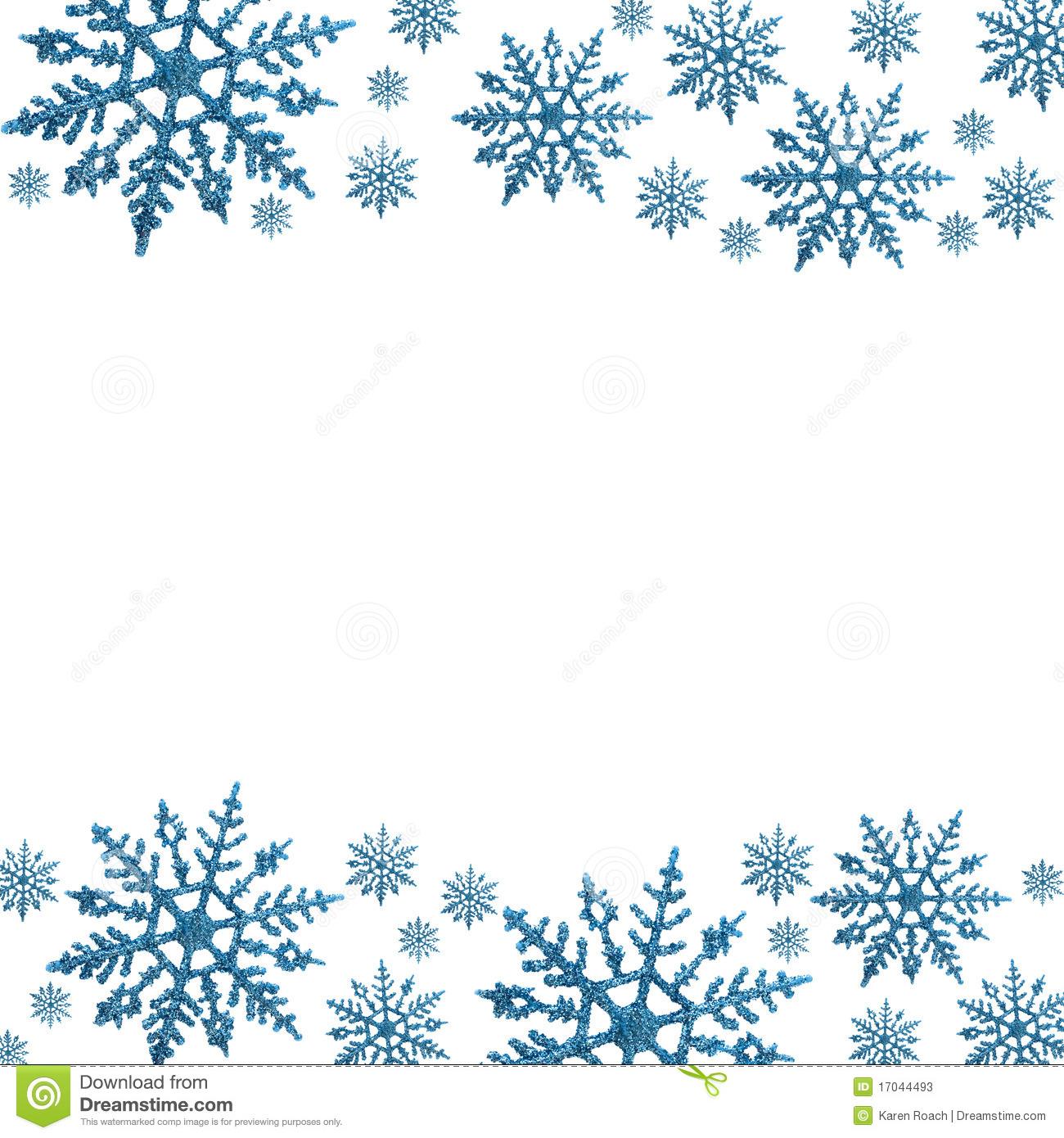 68+ Free Snowflake Border Clipart.