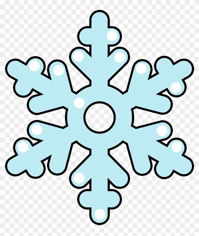 Cartoon Clipart Snowflake.