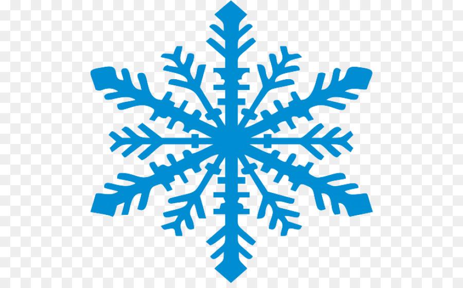 Blue Snowflake Clip Art.