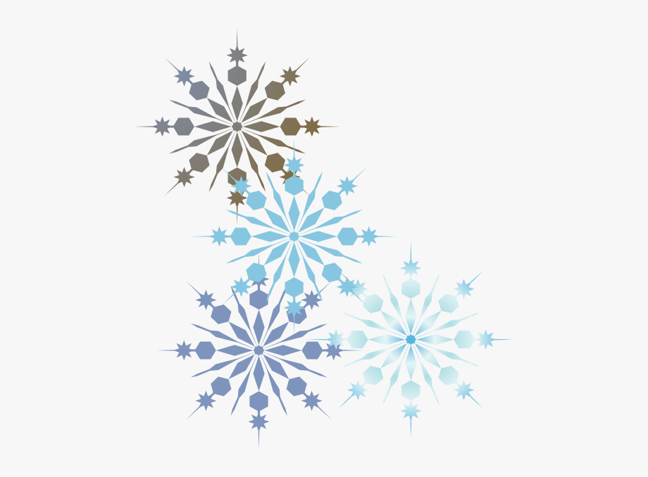 Snowflakes Clipart Borders.