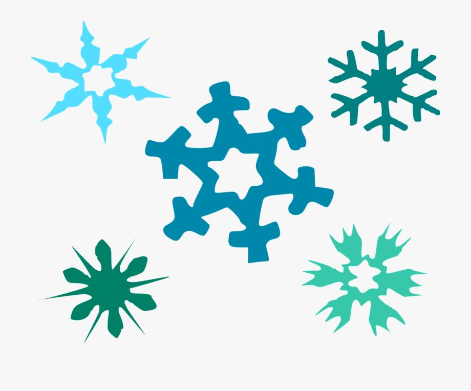 Small Easy Snowflake Clipart , Transparent Cartoon, Free.