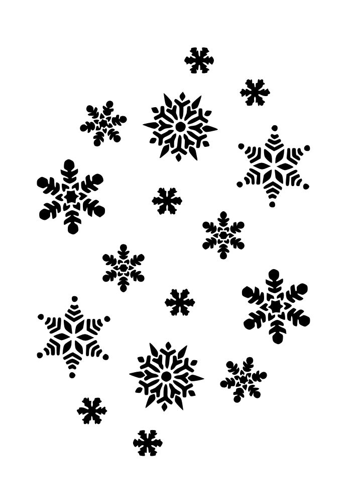 Snowman black and white snowflake clipart black and white.