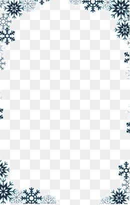 Snowflake Border, Snowflake Clipart, Snowflake PNG.