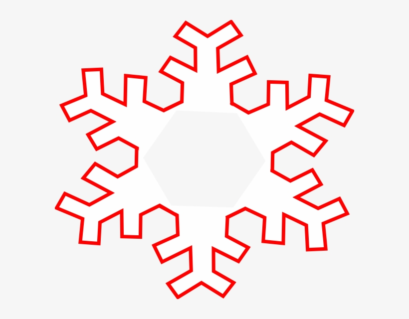 10 Snowflake Frame Clipart.