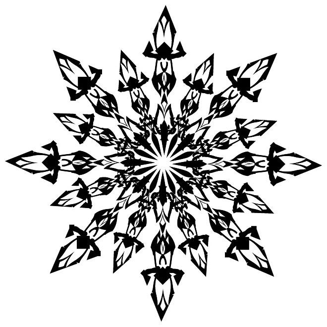 Snowflake Clip Art Vp Free Vector.