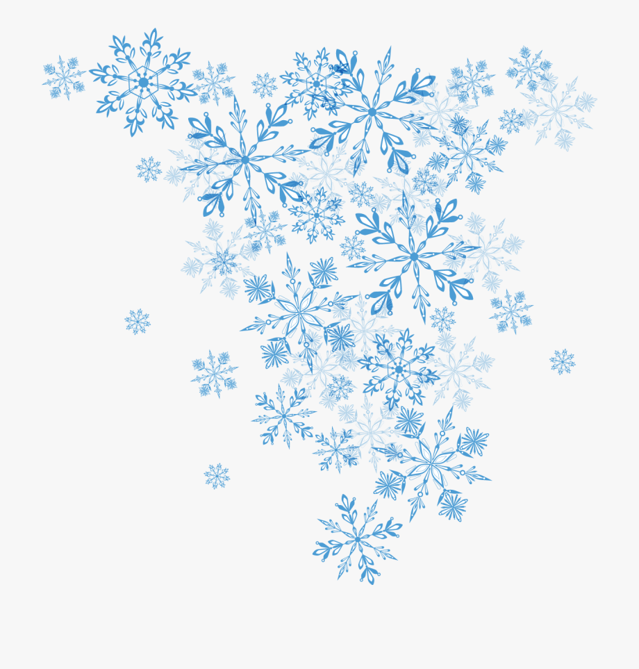 Blue Winter Christmas Euclidean Vector Snowflake Clipart.