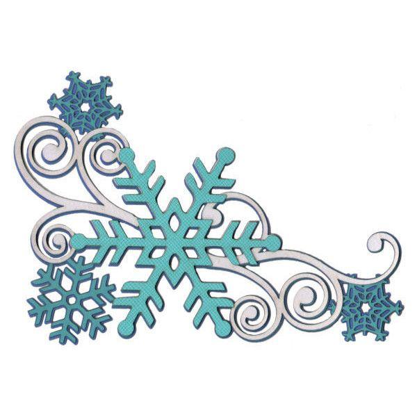 Snowflake Swirl Page Corner Laser Die Cut ($4.50) ❤ liked.