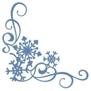 Silhouette Design Store: 3 snowflake corner border cricut.