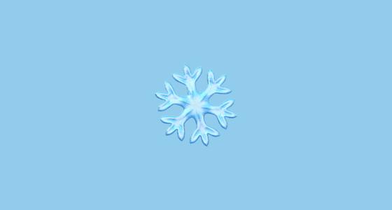❄️ Snowflake Emoji.